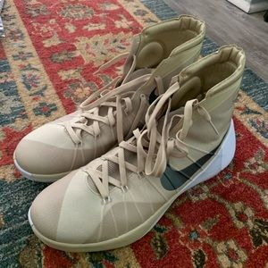 Brand new gold high top basketball shoes